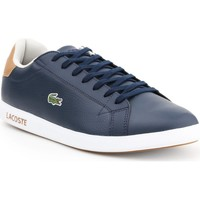 Shoes Men Low top trainers Lacoste Graduate LCR3 118 1 SPM 7-35SPM00134C1 navy , brown