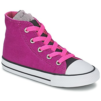 Shoes Girl Hi top trainers Converse ALL STAR PARTY HI PINK / SAPPHIRE / Neon / PINK /  BLACK