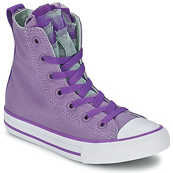 Shoes Girl Hi top trainers Converse ALL STAR PARTY HI Malt / PINK / SAPPHIRE / Eggplant