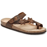 Shoes Women Flip flops Dream in Green MINIK Brown