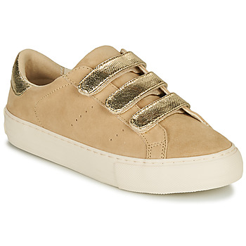Shoes Women Low top trainers No Name ARCADE STRAPS Beige / Gold