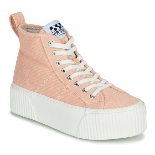 Shoes Women Hi top trainers No Name IRON MID Pink