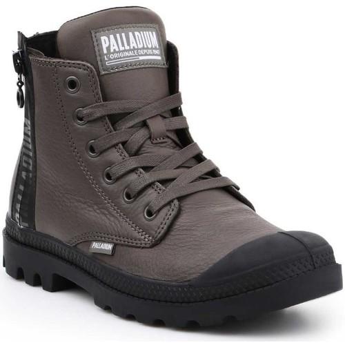 Shoes Women Hi top trainers Palladium Manufacture Pampa UBN ZIPS 96857-213-M brown