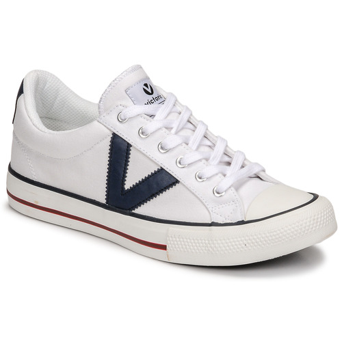 Shoes Low top trainers Victoria TRIBU LONA CONTRASTE White / Blue