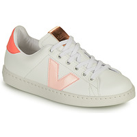 Shoes Girl Low top trainers Victoria TENIS VEGANA CONTRASTE White / Pink