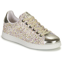 Shoes Girl Low top trainers Victoria TENIS GLITTER Silver