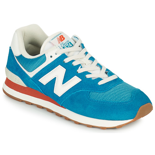 Shoes Men Low top trainers New Balance 574 Blue / White