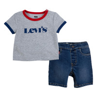 Clothing Boy Sets & Outfits Levi's RINGER TEE DENIM SHORT SET Multicolour