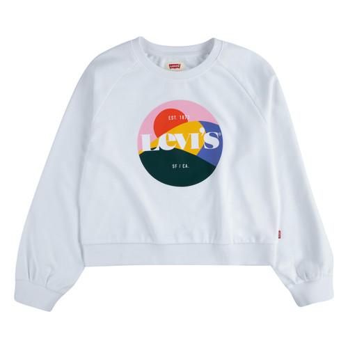 Clothing Girl Sweaters Levi's 4ED410-001 White