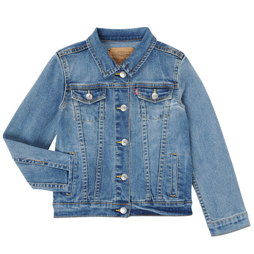 Clothing Girl Denim jackets Levi's 4E4388-M0K Blue