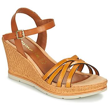 Shoes Women Sandals Tamaris SLOB Cognac / Saffron