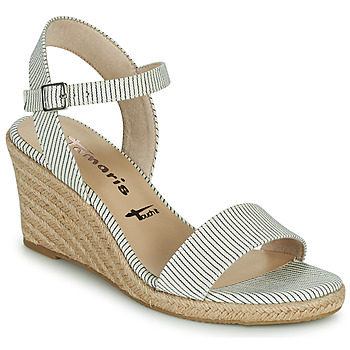 Shoes Women Sandals Tamaris LIVIAN Marine / White