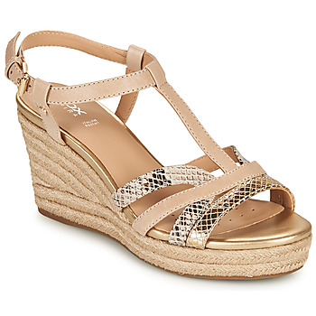 Shoes Women Sandals Geox D SOLEIL B Beige