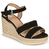 Shoes Women Sandals Geox D PONZA B Black / Gold
