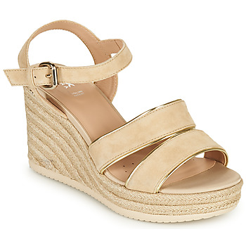 Shoes Women Sandals Geox D PONZA B Beige / Gold