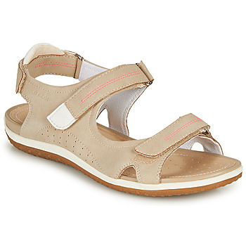 Shoes Women Sandals Geox D SANDAL VEGA A Beige