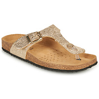 Shoes Women Flip flops Geox D BRIONIA B Gold