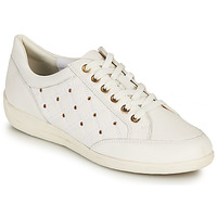 Shoes Women Low top trainers Geox D MYRIA H White / Gold