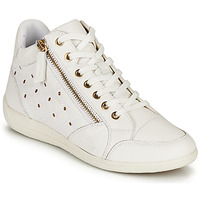 Shoes Women Hi top trainers Geox D MYRIA G White