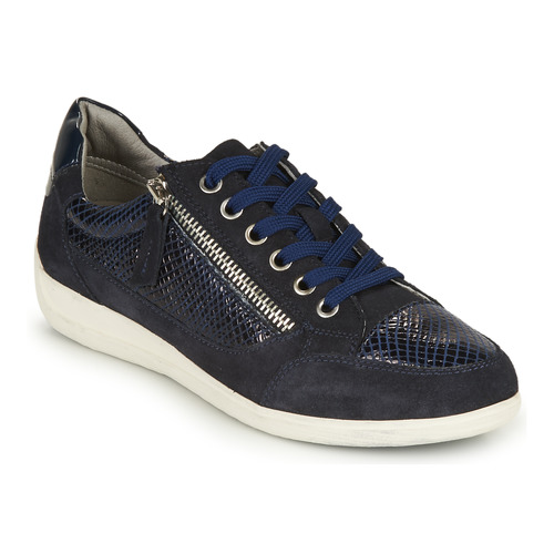 Shoes Women Low top trainers Geox D MYRIA A Marine