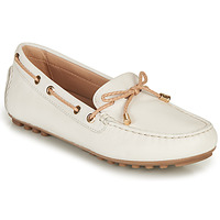 Shoes Women Loafers Geox D LEELYAN C White / Beige