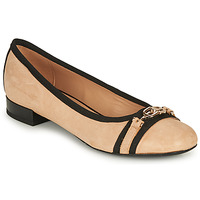 Shoes Women Flat shoes Geox D WISTREY D Beige / Black