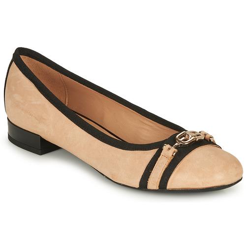 Shoes Women Flat shoes Geox D WISTREY D Beige / Black