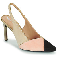 Shoes Women Heels Geox D FAVIOLA A Beige / Pink / Black