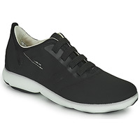 Shoes Men Low top trainers Geox U NEBULA C Black