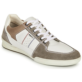 Shoes Men Low top trainers Geox U KRISTOF B White / Grey