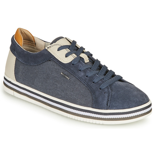 Shoes Men Low top trainers Geox U EOLO A Blue / White