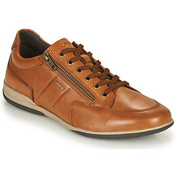 Shoes Men Low top trainers Geox U TIMOTHY C Cognac