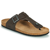 Shoes Men Mules Geox U SANDAL GHITA D Brown