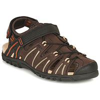 Shoes Men Outdoor sandals Geox UOMO SANDAL STRADA A Brown / Black / Orange