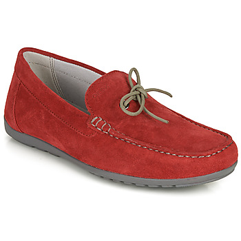 Shoes Men Loafers Geox U TIVOLI A Red