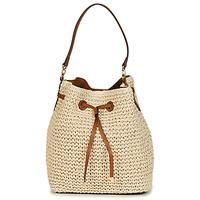 Bags Women Small shoulder bags Lauren Ralph Lauren DEBBY CROCHET STRAW Beige / Cognac