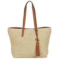 Bags Women Small shoulder bags Lauren Ralph Lauren STRAW TOTE-TOTE-MEDIUM Beige