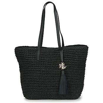 Bags Women Small shoulder bags Lauren Ralph Lauren STRAW TOTE-TOTE-MEDIUM Black