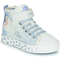Shoes Girl Hi top trainers Geox JR CIAK GIRL White / Blue