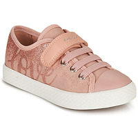 Shoes Girl Low top trainers Geox JR CIAK GIRL Pink