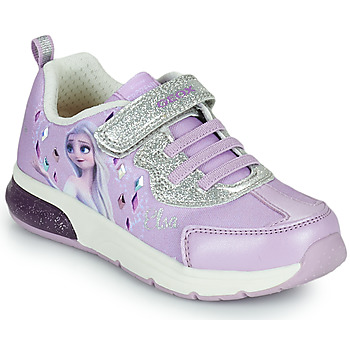Shoes Girl Low top trainers Geox SPACECLUB GIRL Purple