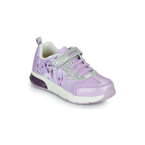 Shoes Girl Low top trainers Geox SPACECLUB GIRL Purple
