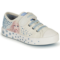 Shoes Girl Low top trainers Geox JR CIAK GIRL White / Blue