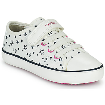 Shoes Girl Low top trainers Geox GISLI GIRL White