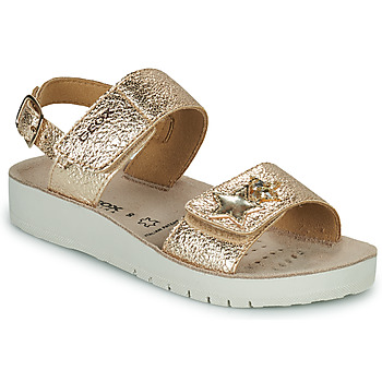 Shoes Girl Sandals Geox SANDAL COSTAREI GI Gold