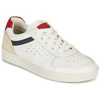 Shoes Boy Low top trainers Geox DJROCK BOY White / Marine / Red