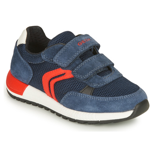 Shoes Boy Low top trainers Geox ALBEN BOY Marine / Red