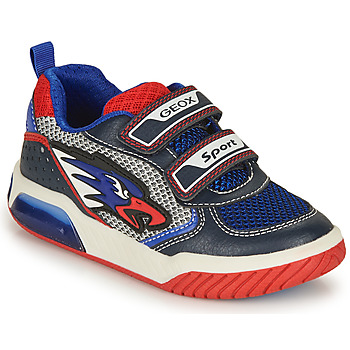 Shoes Boy Low top trainers Geox INEK BOY Blue / Red
