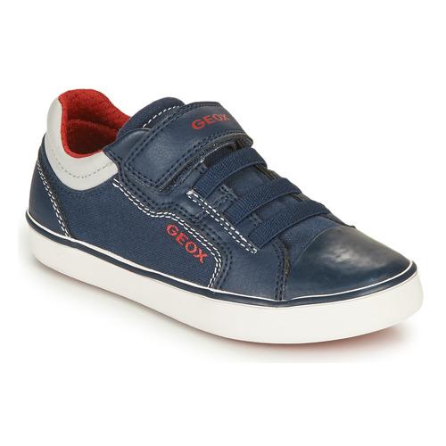 Shoes Boy Low top trainers Geox GISLI BOY Marine / Red