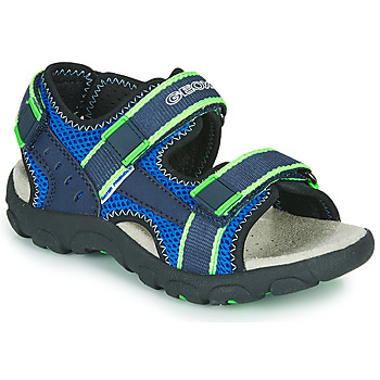 Shoes Boy Outdoor sandals Geox JR SANDAL STRADA Blue / Green